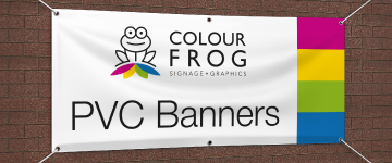 Banners & Mesh Banners | www.colour-frog.co.uk